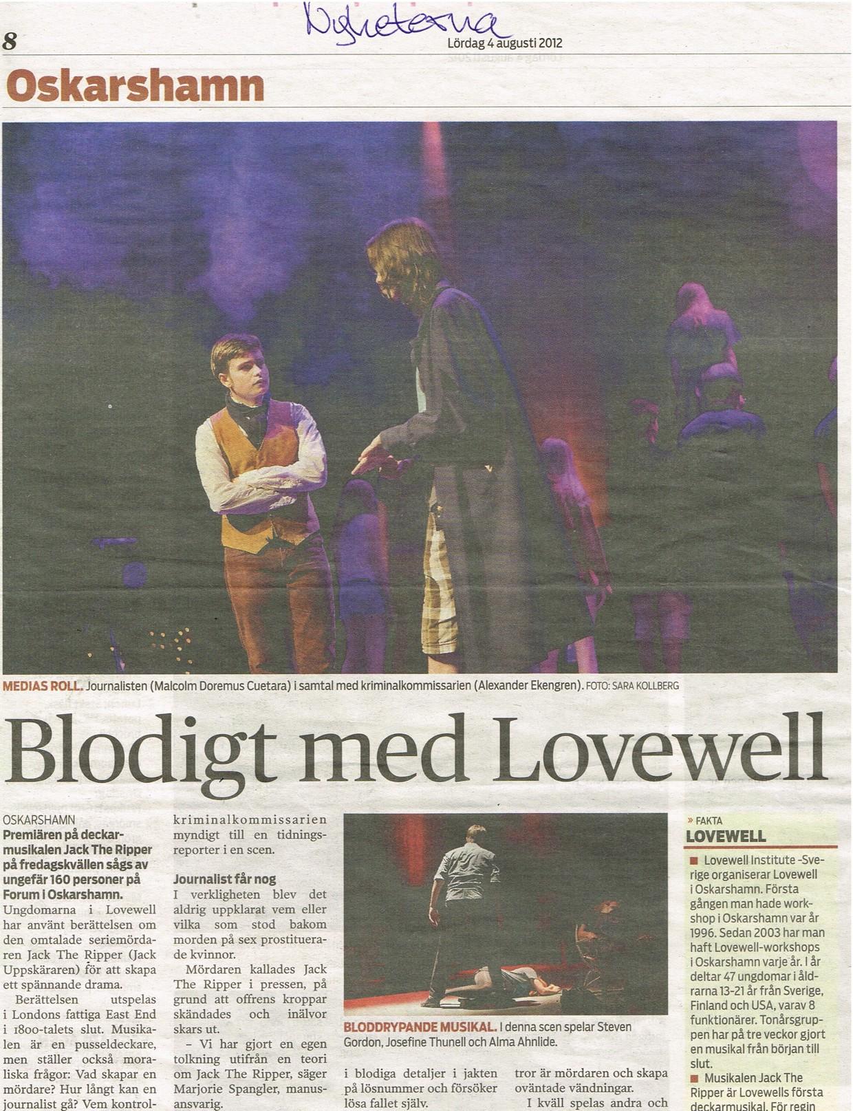 Nyheterna August 4th, 2012