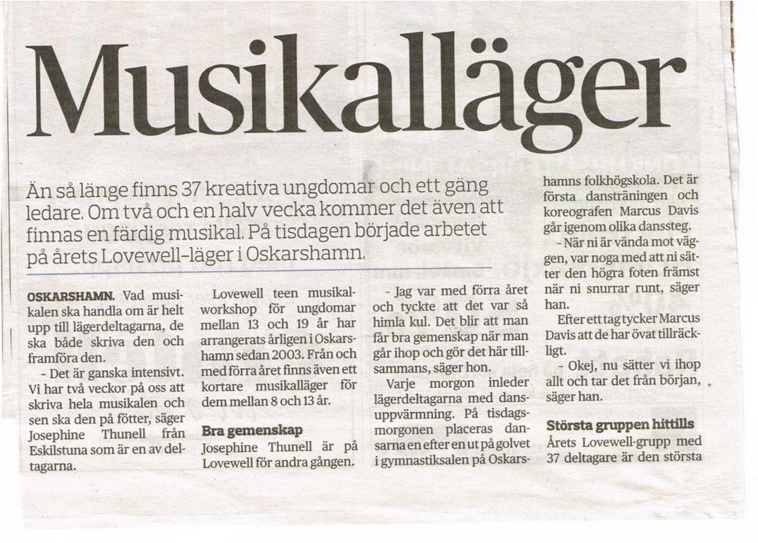 Oskarshamn Tidningen July 18th, 2012