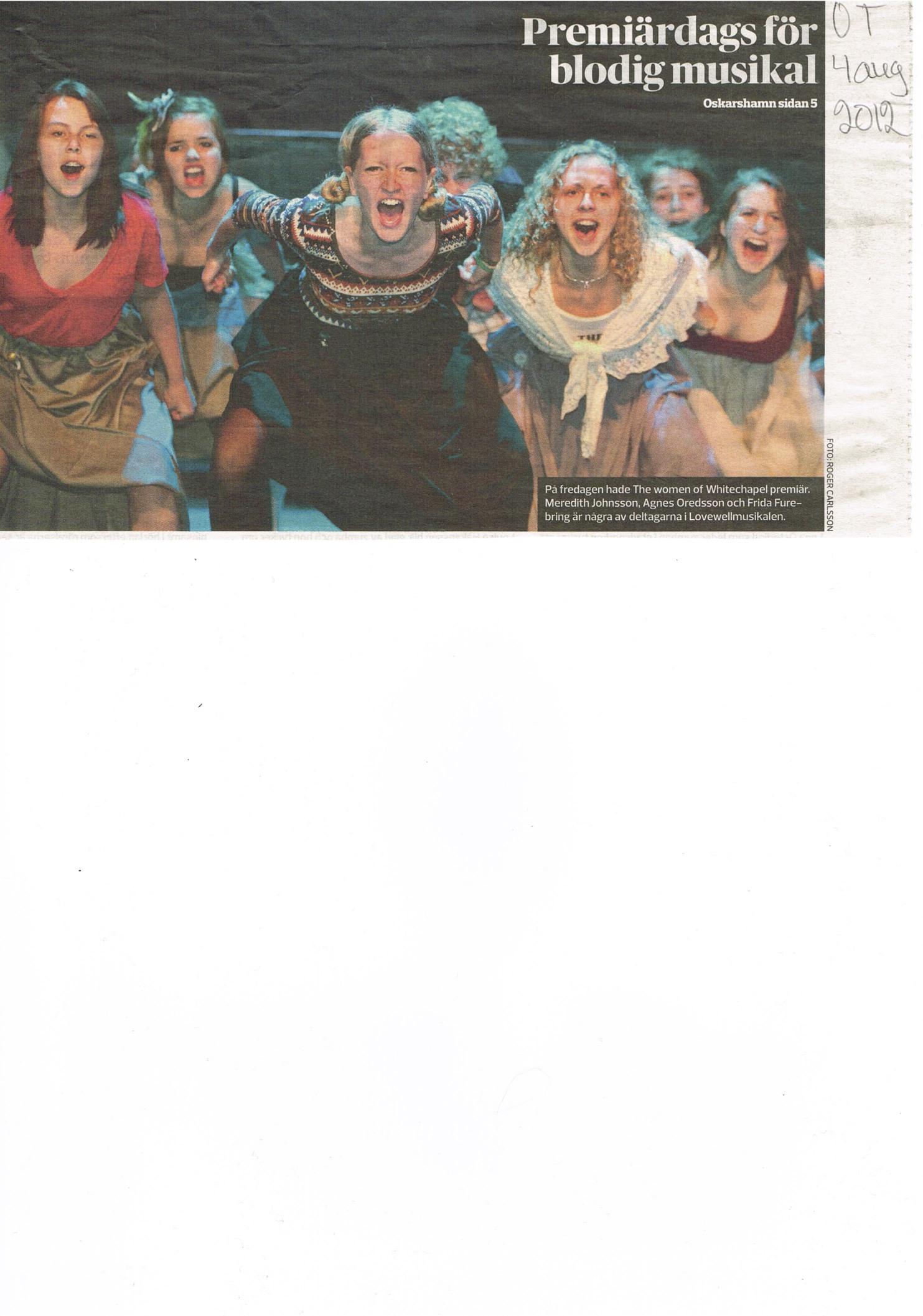 Oskarshamns-Tidningen August 4th, 2012